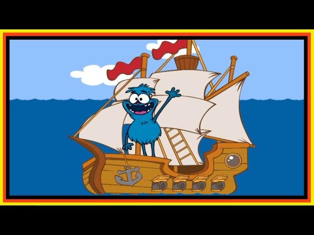 Kids English | Choocha Funnyboy Clown Interactive Cartoon Games - Find TREASURE on a Pirate Ship!