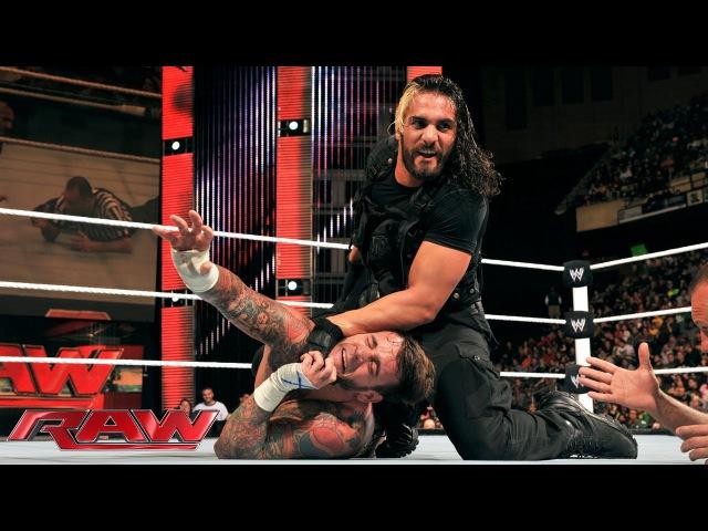 The Kingslayer CM Punk vs Seth Rollins Raw Dec 30 2013