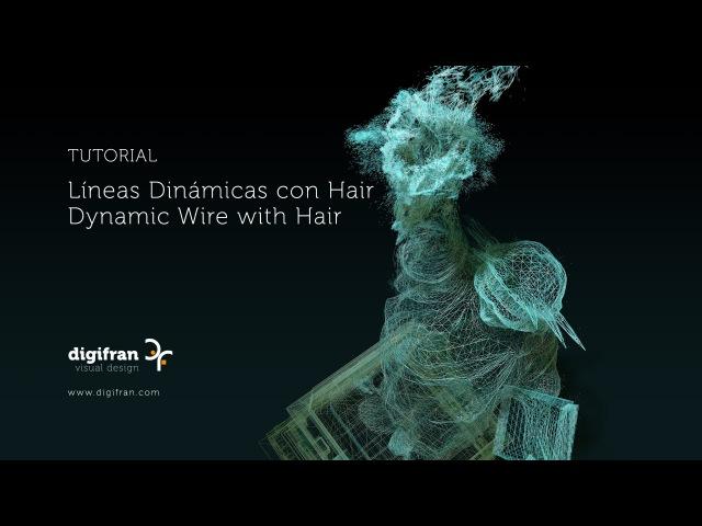 Líneas Dinámicas con Hair Dynamic Wire with Hair C4D