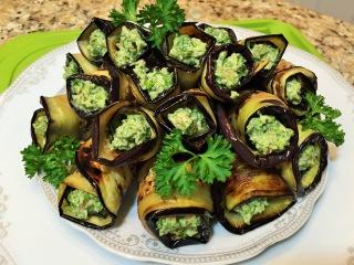 БАКЛАЖАНЫ. РУЛЕТИКИ ИЗ БАКЛАЖАНОВ жареные.(Rolls of Eggplant)