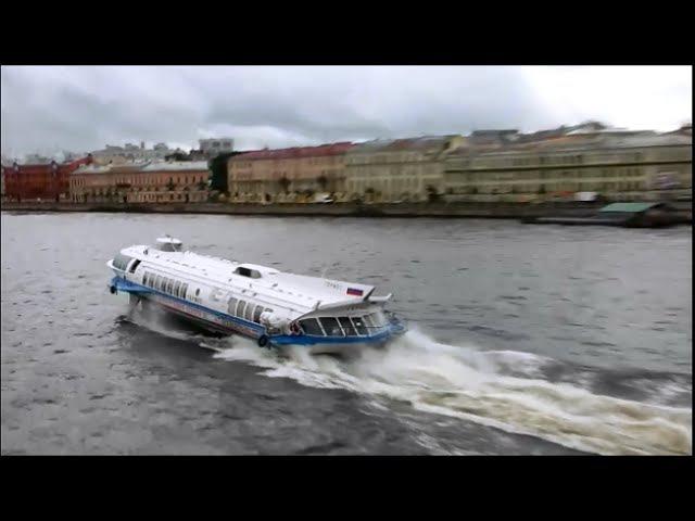 Теплоходы Москва 125 и Метеор 170 в Санкт Петербурге 4 09 2016г