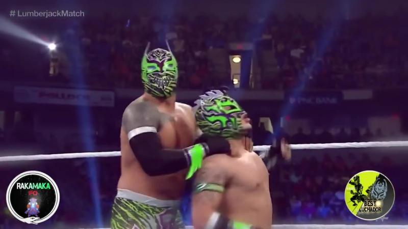 WWE-NXT-AAA Rey Mysterio and Sin Cara(Mistico) Vs Kalisto and Sin Cara(Hunico) HD_HD Best Luchador