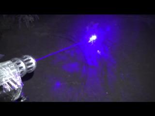 Мощный лазер. Поджигаем все и тестируем ночью. Лазерное шоу