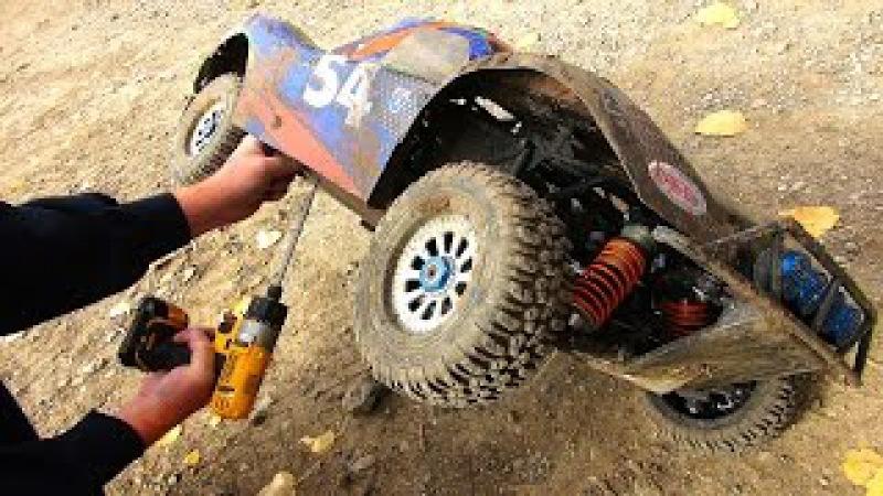 RC ADVENTURES - Giant 4x4 Trucks Race Jump - Highlight Reel - HPI Baja vs Losi 5ive T vs DBXL