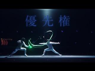 Японцы создали из фехтования настоящий фейерверк визуализации!