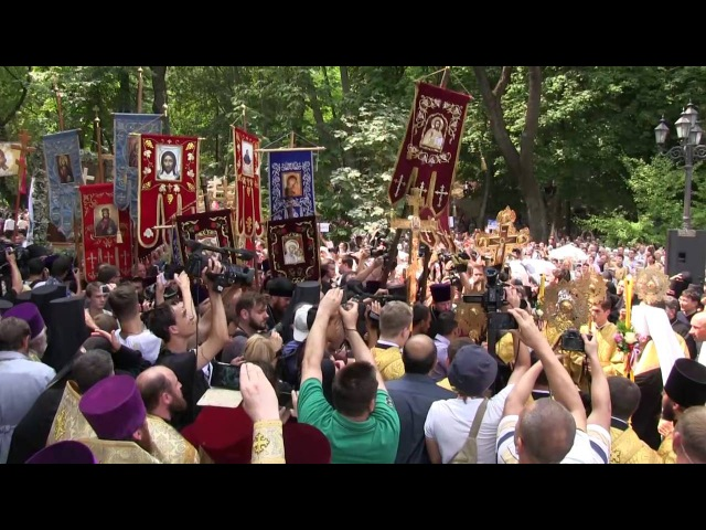 27 07 16 Зустріч західної та східної гілок Всеукраїнського Хресного ходу в Києві