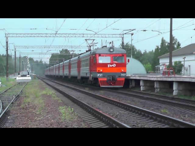 Электропоезд ЭР2Т-7177 станция Вербилки