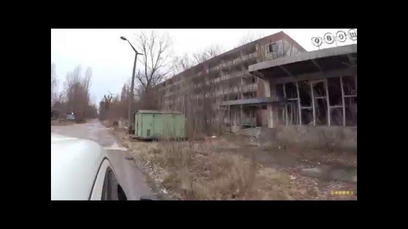 Driving through Prypjat ( Western Part)
