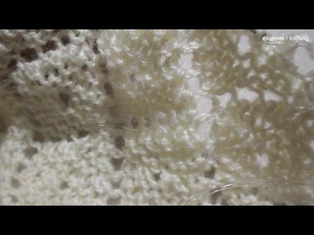 Шаль Вязание нижней каймы 43 64 ряды Shawl Knit the bottom hem 43 64 rows