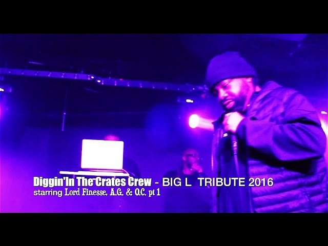 Diggin' In The Crates Crew [BIG L TRIBUTE 2016] feat LORD FINESSE A.G. O.C. LIVE @BLACK THORN PT 1