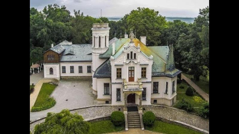 Dworek Henryka Sienkiewicza w Oblęgorku z lotu ptaka