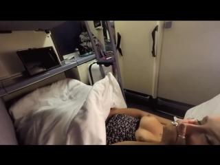 Трахнула незнакомца в поезде