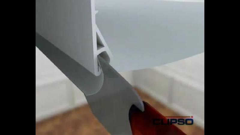 Как монтируются тканевые потолки CLIPSO