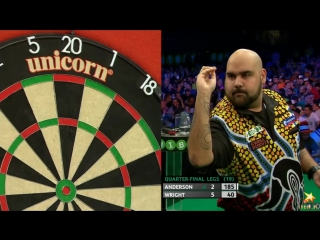 Kyle Anderson v Peter Wright (PDC European Championship 2016 / Quarter Final)