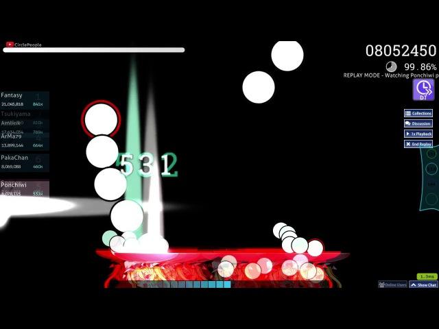 Ponchiwi   8284 vs wa. - Adularescence [Toybot's Overdose] DT 99.72% 852pp