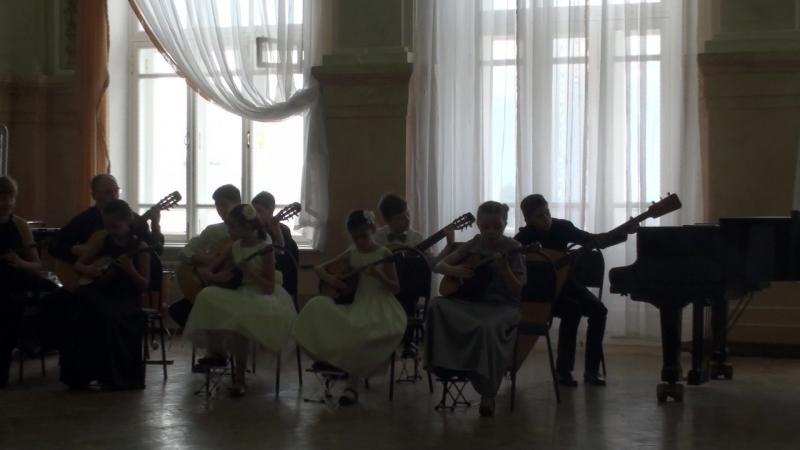 Колыбельная исп домрово гитарный ансамбль Контабиле ДЦМШ Самара