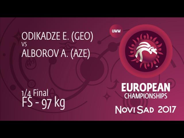 1/4 FS - 97 kg: E. ODIKADZE (GEO) df. A. ALBOROV (AZE), 4-1