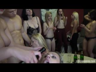 Чешская оргия 9 (CZECH HAREM 9 - PART 1 мжм групповуха порно GANG BANG BDSM чешская оргия приятного просмотра )