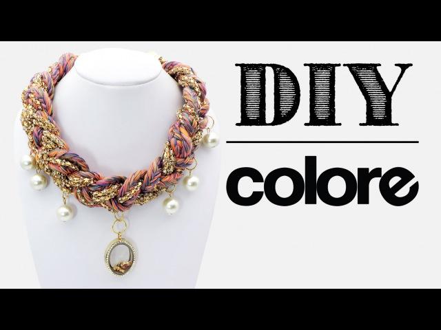DIY Collar Hilo Trenzado y Relicario | Colore Accesorios