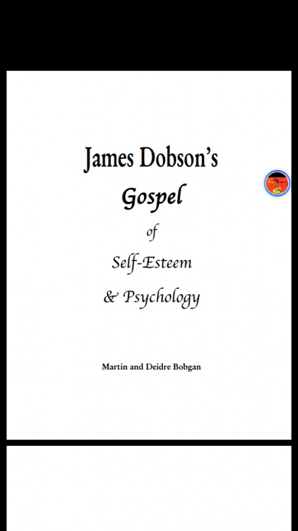 James Dobson's Gospel of self esteem
