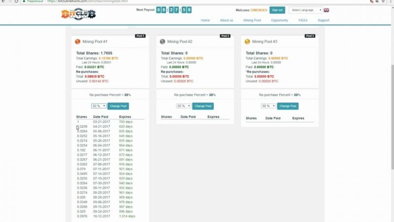 Investicii v dobichy Bitkoina Bitclub Network otzivi Pyl 500$ raschyot pribili passivnogo dohoda