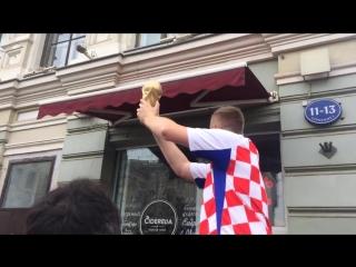 ЧМ 2018. Финал. Репетиция. )) Сборная Хорватии.