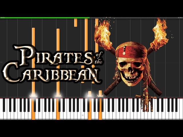 Pirates of the Caribbean Medley Piano Tutorial Synthesia David Kaylor