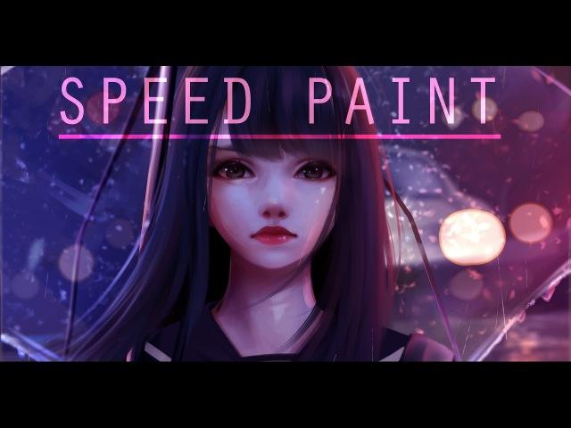 Speed Paint- Rainy Day- Paint tool sai- Lulybot