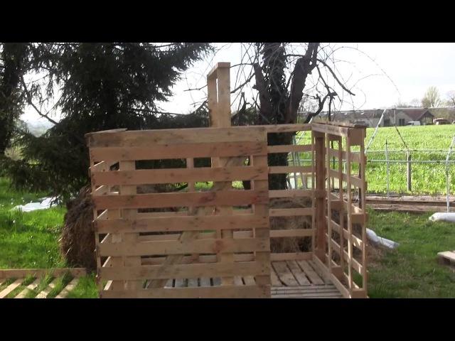Construction d'un chalet avec récupération de palette en bois