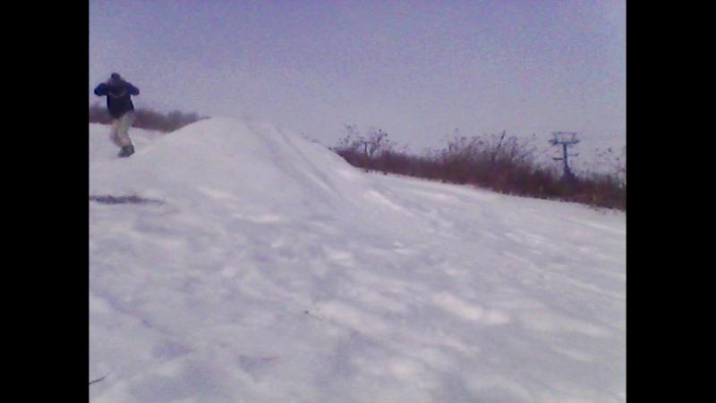 катаю на сноуборде.3gp