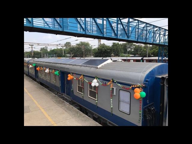 Indian Railways launches first solar-powered DEMU train | Economic Times