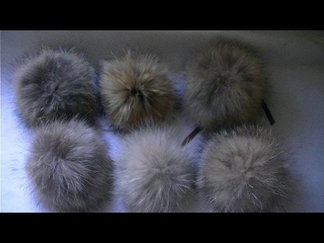 Как сделать меховой помпон How to make a fur pompom