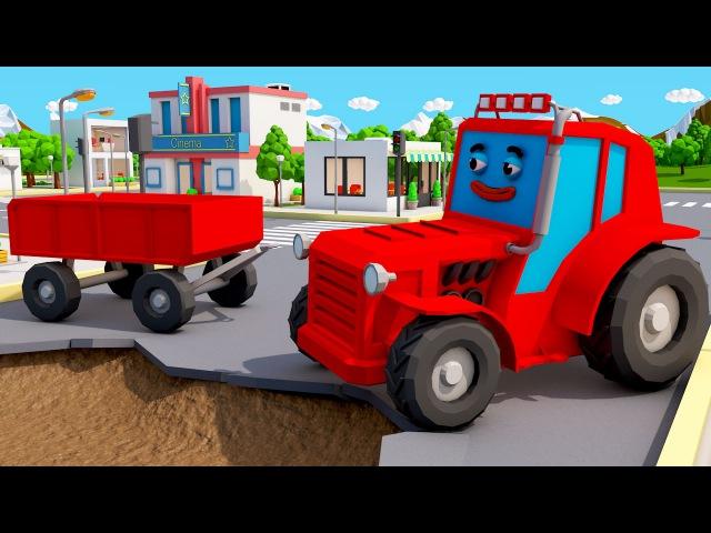 Traktor Traktorki Bajka dla Dzieci Agricultural Machinery Fairy Tales and Animations