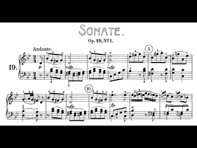 Beethoven: Sonata No.19 in G Minor, Op.49 No.1 (Bavouzet, Biret, Lewis)