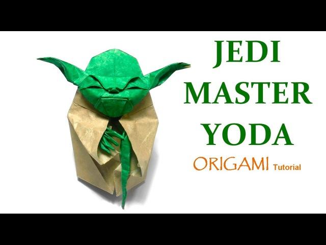 Origami Jedi Master Yoda Tutorial Fumiaki Kawahata 折り紙 ヨーダ оригами учебник Мастер Yoda