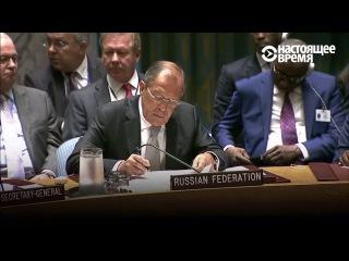 Сергей Лавров и Джон Керри спорят в ООН по поводу атаки на конвой в Сирии