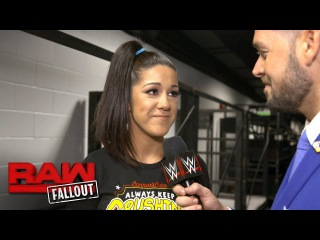 Bayley gives an update on her condition heading into WWE No Mercy: Raw Fallout, Sept. 18, 2017