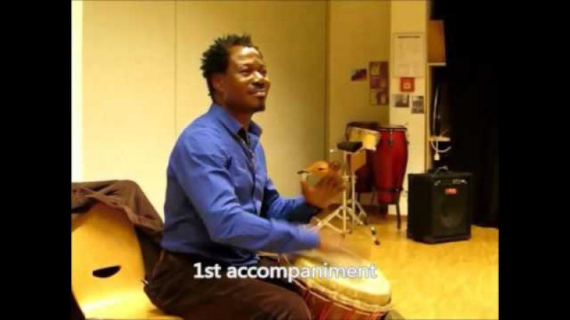 Dununba Learning a djembé break and accompaniments with Famadi Sako