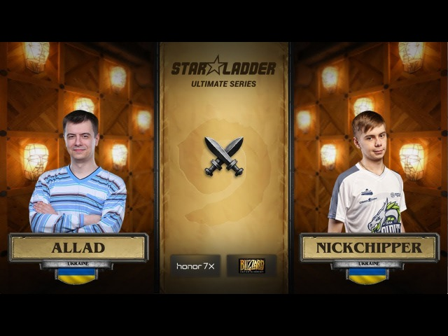 Allad vs NickChipper 3rd place decider StarLadder Hearthstone Ultimate Series