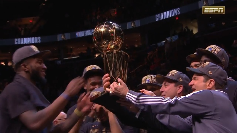 Larry O'Brien Trophy Presentation Ceremony - 2018 NBA Finals