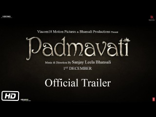 Padmavati | Official Trailer | 1st December | Ranveer Singh | Shahid Kapoor | Deepika Padukone