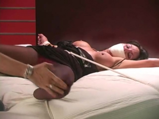 Ginarae michaels spread eagled and nylon tickled good