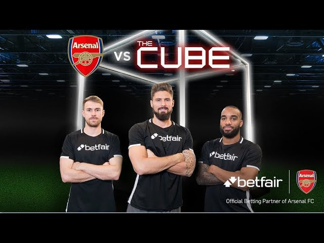 Giroud Lacazette Ramsey vs The Cube Full episode