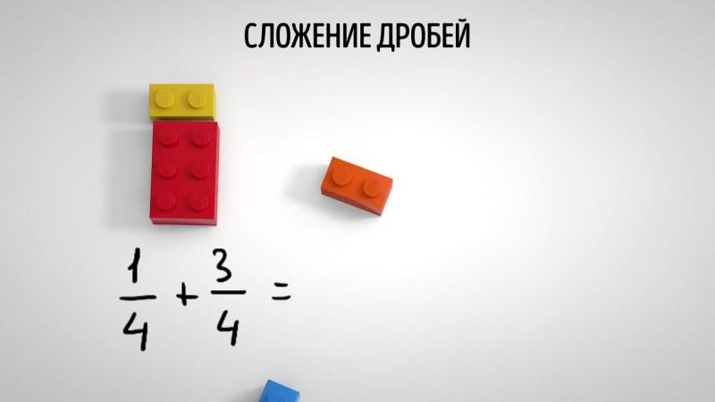 Дроби возведение в квадрат на кубиках Lego