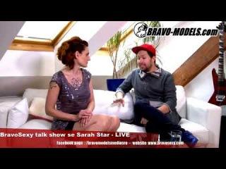 BravoSexy talk show 08/2018 se Sarah Star - guest JAN KRATOCHVIL -STACEY LIN GOLD - Travesti umelec