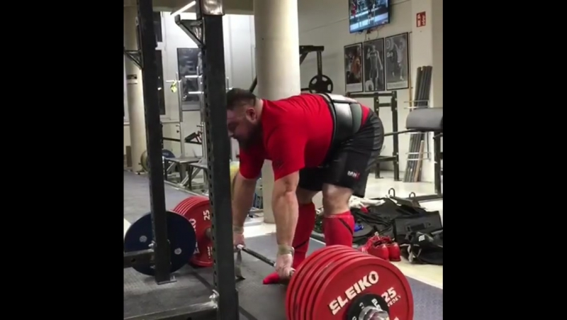 Матиас Белшак (Словения), становая тяга без экипировки - 380 кг💪, подготовка на АК - 2018 💪