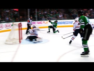 Radulov and Seguin team up to beat Talbot on two-on-one rush