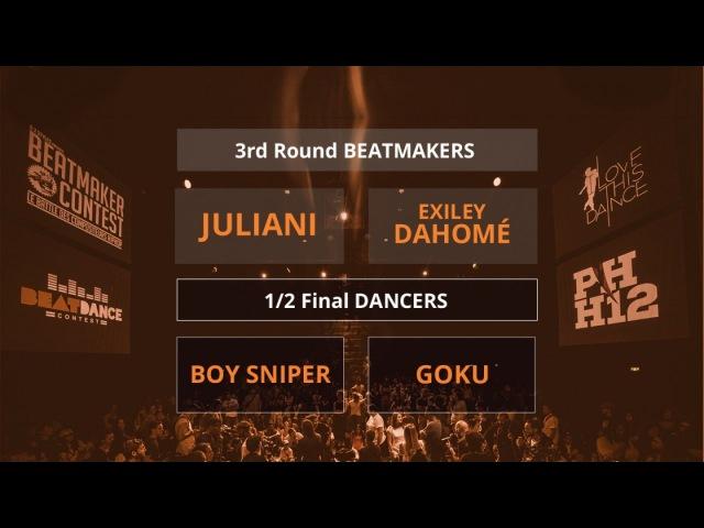 Beatdance Contest 2017 - 12 final Battle - (Boy Sniper vs Goku - Juliani vs Exiley Dahomé) | Danceproject.info
