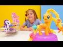 My Little Pony Kuaför Salonu Oyunu 🐎✂️🌼Yeni saç modelleri ve süs. Pinkie Pie ve Apple Jack