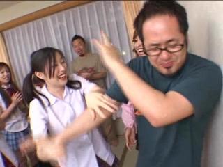 20 Schoolgirls Reverse Gangbang